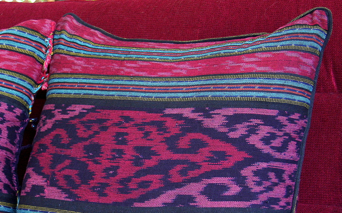 Berry Hand Woven  Ikat Pillows, 20 Inch  - product images  of