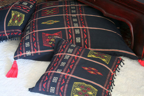 Naga,Hand,Woven,Tribal,Pillow's,16,,20,and,30,Inch,Housewares,black and red Pillow, floor Cushion, Black Tribal Pillow_Cover,Cushion_Cover, Ethnic_Pillow,Floor_Pillow,Floor_Cushion,embroidery,colorful,Naga_pillows,large_pillow,home_decor,cotton