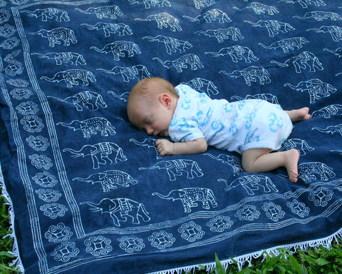 Elephant,Throw,Blanket,-,Hmong,Indigo,Batik,Picnic,Or,Baby,boho blanket.Hmong blanket,Bohemian_decor,Hmong indigo batik,small elephant blanket ,natural cotton batik blanket, boho baby blanket, natural cotton play blanket,indigo batik picnic blanket, blue lap_blanket, elephant collectors piece, boho sofa_blanket,