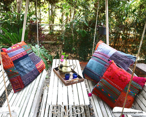 Custom,Made,30,Boho,Floor,Pillow,In,Vintage,Hmong,Embroidery,and,Batik,Patchwork,Housewares,large boho Pillow, Embroidered cushion, Hmong Cushion, Hmong_Pillow, embroidered Hmong_Cushion, colorful Pillow_Cover, Cushion_Cover, Ethnic_Pillow, Floor_Pillow, Floor_Cushion,Large_Pillow,Bohemian_decor,decorative_pillows, large patchwork pil