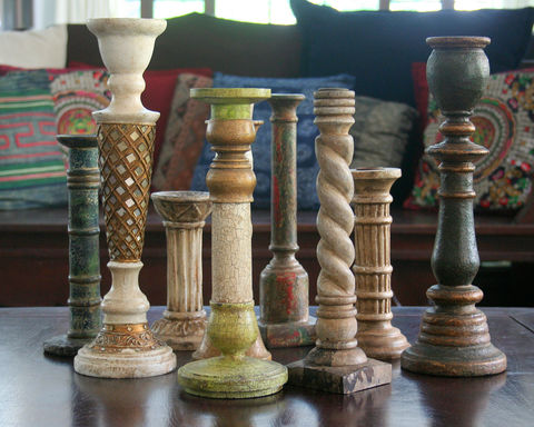 Vintage,Hand,Carved,Wooden,Candlesticks,vintage hand carved wooden candlesticks, Vintage candle holders, Carved candlesticks, jackfruit wood candlesticks,  bohemian decor, eclectic home decor