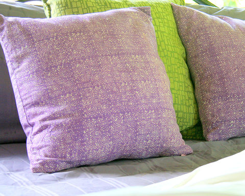 Double,Sided,Lavender,Batik,Pillow,Housewares,lavender Pillow,Hmong batik pillow, lavender cushion,covers, hand done batik,16 inch lavender pillow, ethnic Home_decor, bohemian stye decor ,boho_pillows,purple cotton batik