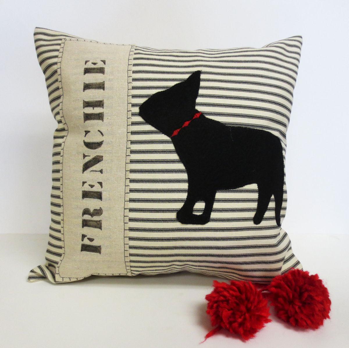 Bulldog Silhouette Applique French,bulldog,felt,applique