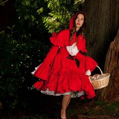 Gothic,Lolita,Little,Red,Riding,Hood,Dress,&,Cape,little red riding hood, halloween costume, couture costume, high quailty, cosplay, gothic lolita, plus size, custom size, made to measure