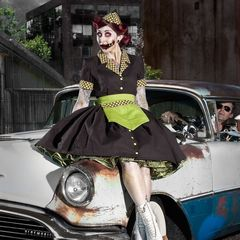 Zombie,Car,Hop,Custom,Size,waitress, car hop, zombie, 50's, 50s, costume, halloween, plus size