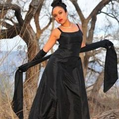 Gothic,Wedding,Gown,Sleeveless,Empire,Waist,Dress,with,Long,Sash,gothic bridal gown, goth bridal dress, bride, bridesmaid, gown, dress, long sash, black, white, taffeta, plus size, custom, made to measure