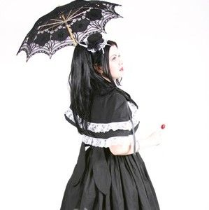 Sweet,Gothic,Lolita,Dress,and,Capelette,Clothing,cape,women,gothic,lolita,kawaii,cute,cosplay,black,white,custom_size,plus_size,made_to_measure,cotton,ribbon,lace,thread,zipper