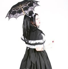 Sweet,Gothic,Lolita,Dress,and,Capelet,Clothing,cape,women,gothic,lolita,kawaii,cute,cosplay,black,white,custom_size,plus_size,made_to_measure,cotton,ribbon,lace,thread,zipper