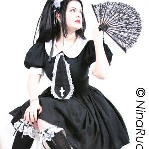 Gothic,Lolita,Cosplay,Schoolgirl,Dress,Clothing,Women,gothic_lolita_dress,schoolgirl_dress,gothic_schoolgirl,gothic_dress,lolita_dress,cosplay_dress,schoolgirl_costume,dress,costume,halloween,halloween_costume,plus_size,black,cotton,lace,applique,zipper,thread