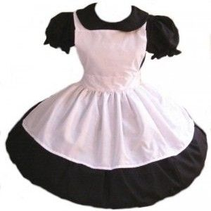 Gothic,Alice,in,Wonderland,Dress,and,Apron,Costume,Clothing,halloween_costume,gothic_clostume,gothic_alice_costume,gothic_alice_dress,costume_halloween,halloween,costume,dress,apron,gothic_alice,alice_in_wonderland,black,white,elastic,thread,zipper,cotton,broadcloth