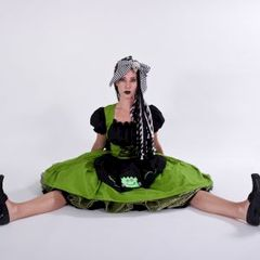 Cute,Frankenstein,Dolly,Dress,halloween costume, cute frankenstein, green, dress, black, custom fit, plus size
