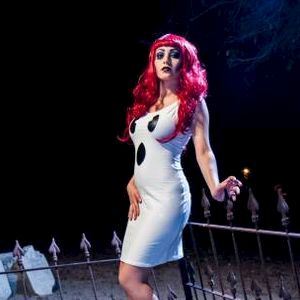 Sexy Ghost Costume Stretch Dress - product images  of