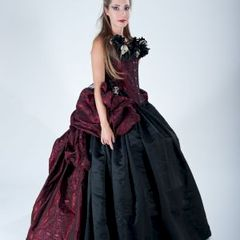 Voodoo,Queen,Gown,Halloween,Costume,skulls, gown, halloween costume, victorian, bustle dress, voodoo queen, couture costume, black dress, goth, gothic, wedding