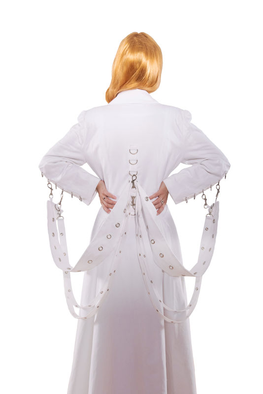 High Fashion Mad Scientist White Lab Coat - product images  of