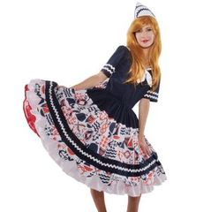 Cute,Sailor,Dress,and,Hat,sailor navy nautical middy middie collar dress halloween costume custom plus size made to measure