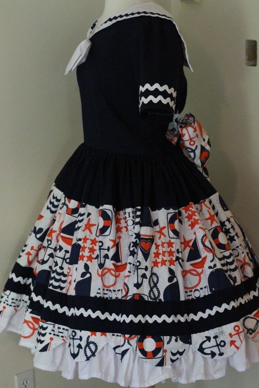 Cute Sailor Dress and Hat - product images  of