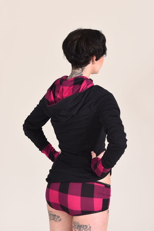 Buffalo Plaid Hoodie Top - product images  of