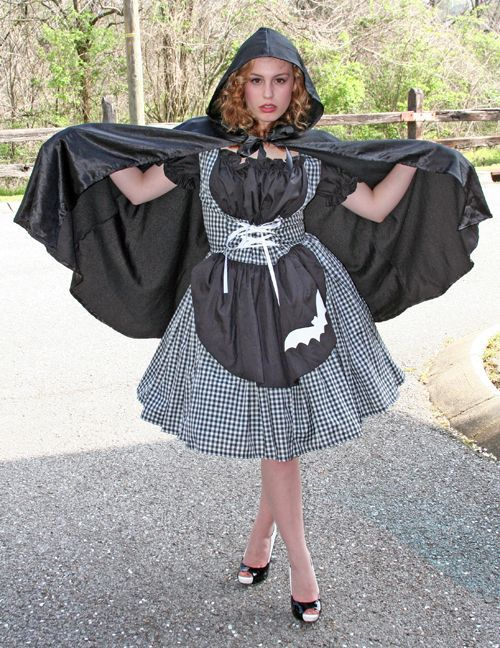 Gothic Little Red Riding Hood Halloween Costume Dress and Cape - product images  of