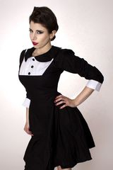 Wednesday Aadams Gothic Dolly Lolita Dress - product images  of