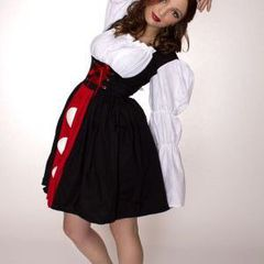Queen,of,Hearts,Alice,in,Wonderland,Dress,Costume,costume halloween alice in wonderland queen of hearts womens custom made plus size high quality dress couture costume unique handmade