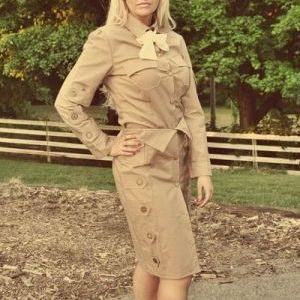 Steampunk Dirigible Stewardess Skirt Shirt Tie and Cap - product images  of