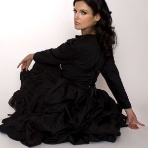 Gothic Victorian Bustle Corset Jacket and Ruffled Skirt Set - product images  of