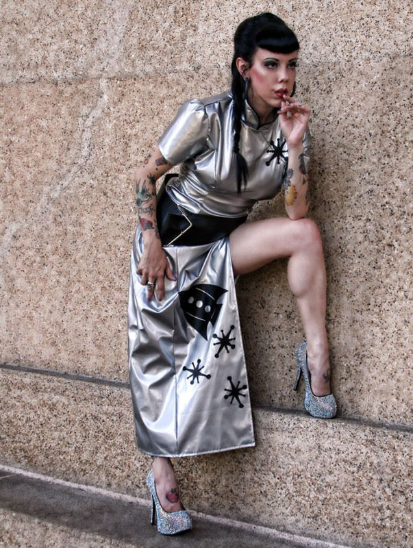 Sci-Fi Cheongsam Space Cadet Sexy Retro Rocket Dress Costume - product images  of