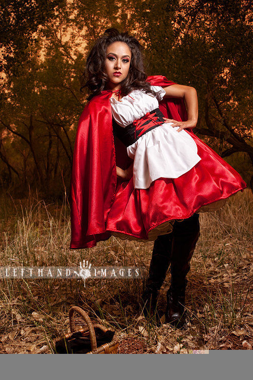 Little Red Riding Hood Costume Dress and Cape - product images  of