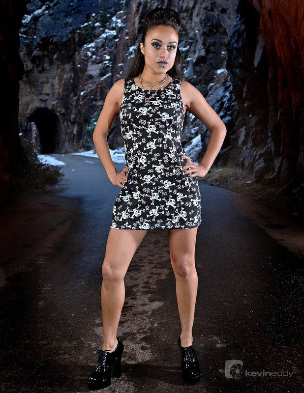 Goth Skull Wiggle Mini Dress - product images  of