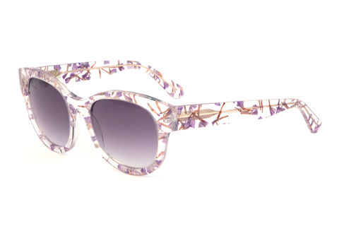 Forget-Me-Not,Floral,Square,Frame,Sunglasses,Heidi London, Forget-me-not, purple, square frame sunglasses