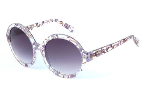 Forget-me-not,Circular,Frame,Sunglasses,Heidi London, Forget-me-not, Floral Circular Frame Sunglasses