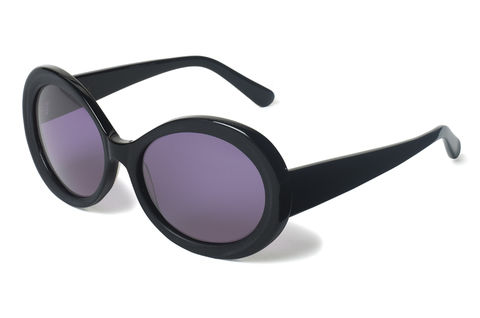 Oval,Frame,Sunglasses,Heidi London, Black Oval Frame Sunglasses