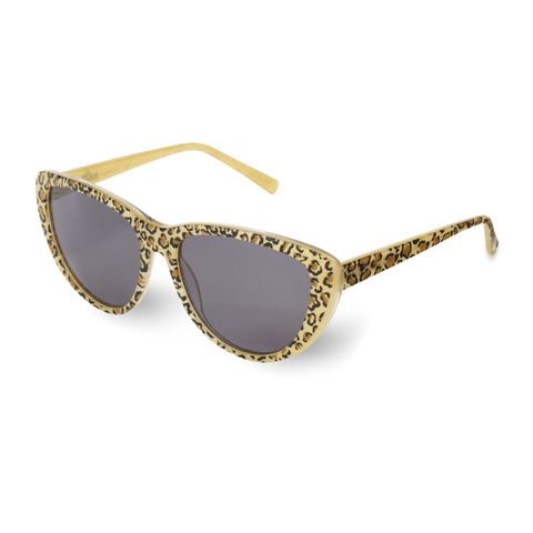 Leopard,Print,Cateye,Frame,Sunglasses,Heidi London, Crystal Studded Circular Frame Sunglasses