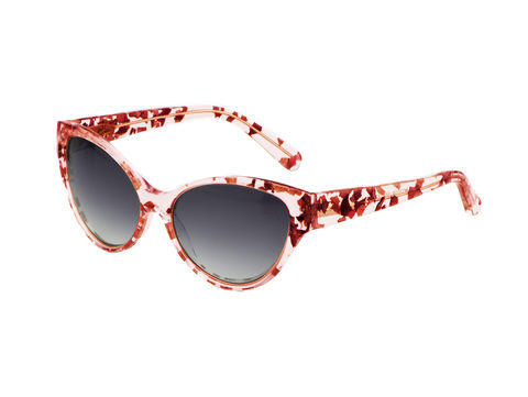 Rose,Petal,Cat,Eye,Frame,Sunglasses,Heidi London, Rose Petal Cat Eye Frame Sunglasses