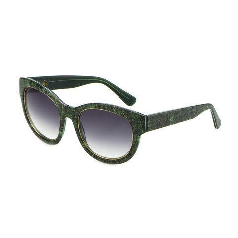 Denim,Print,Square,Frame,Sunglasses,-Forest,Green,DENIM PRINT SQUARE FRAME SUNGLASSES - FOREST GREEN