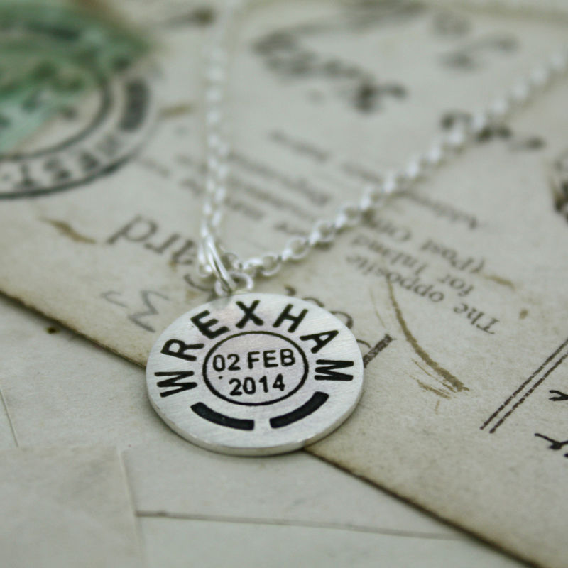 Personalised Mini Postmark Pendant - product images  of