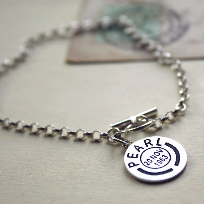 Personalised Postmark Bracelet - product images  of