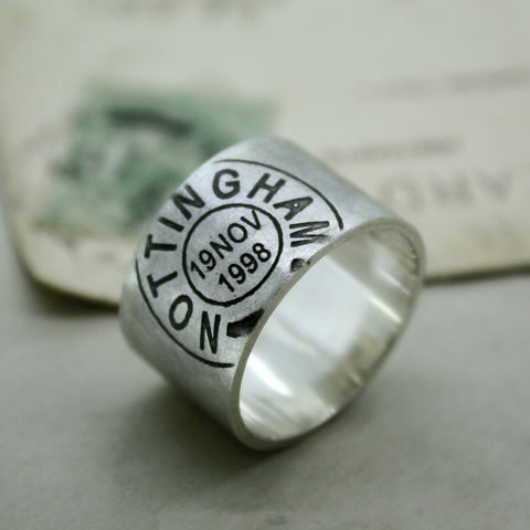 Mens Personalised Postmark Ring - product images  of