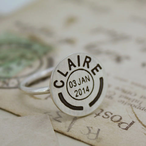 Personalised,Postmark,Ring,Personalised ring, postmark ring