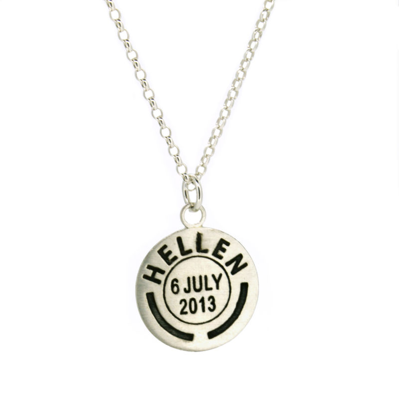 Personalised Medium Postmark Pendant - product images  of