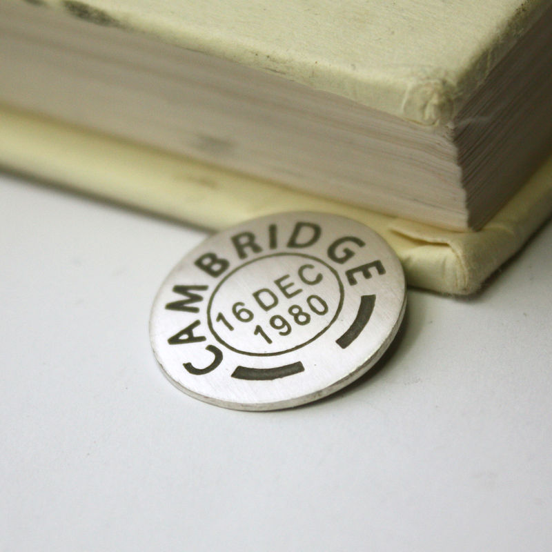 Personalised Postmark Golf Ball Marker - product images