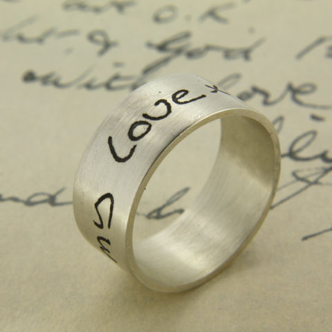 Your,Own,Handwriting,Personalised,Sterling,Silver,Ring,handwriting ring, personalised ring