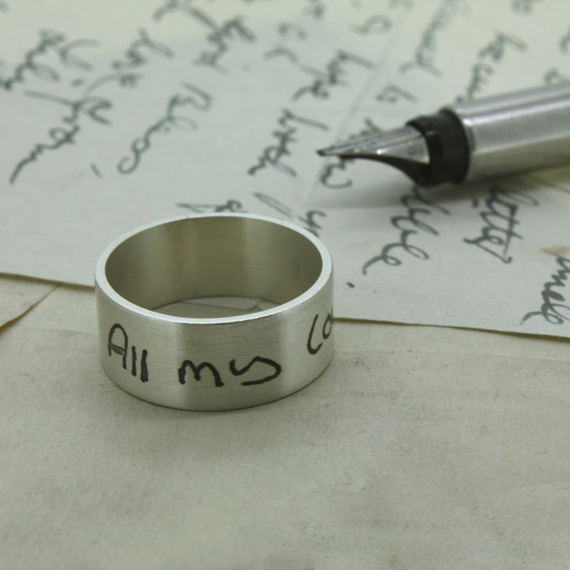 Your Own Handwriting Personalised Sterling Silver Ring - product images  of