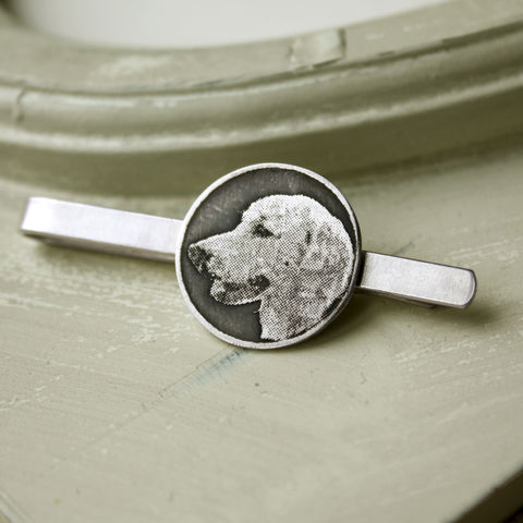 Personalised,Pet,Tie,Clip,Gift for dog lover, animal lover gift, pet tie clip, pet memorial jewellery