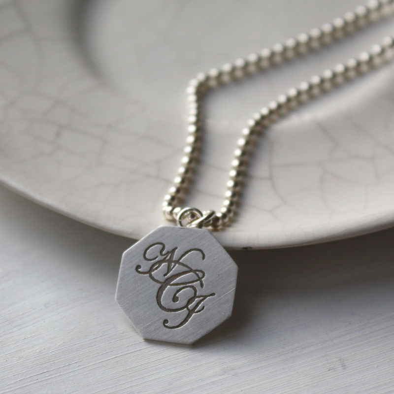 Silver Monogram Necklace - product images  of