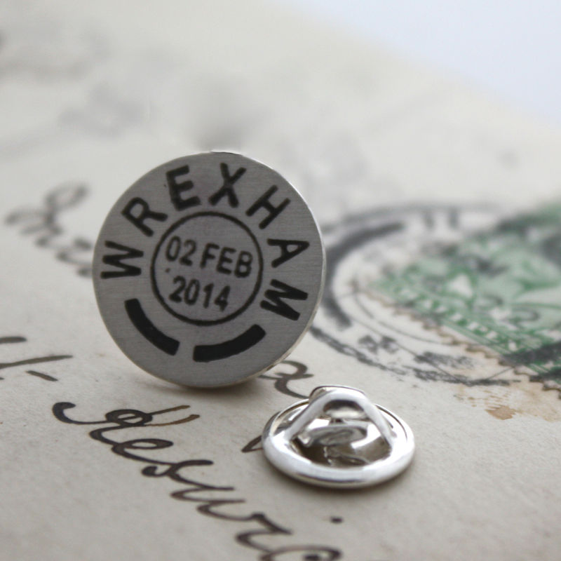 Personalised Postmark Tie Pin - product images  of