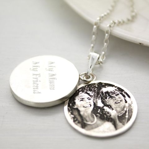 Personalised,Photo,Locket,Pendant,photo pendant, mother's day gift, personalised photo locket