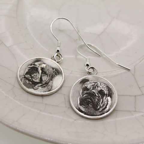 Personalised,Pet,Earrings,pet gift, dog lover gift, gift for animal lover