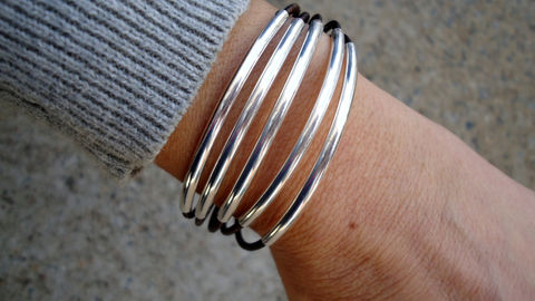 Leather,Bracelet,,Sterling,Silver,Tubes,Cuff,,Women's,Bracelet,Jewelry,sterling,sterling_silver,leather,leather_cuff,silver_cuff,iseadesigns,leather_bracelet,sterling_bracelet,sterling_cuff,boho,chic_bracelet,sterling silver,silver plated casting