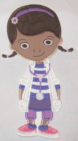Doc McStuffins Friends Hallie Stuffy Lambie Character DIY Iron On or Sew On Applique Patch - product images  of